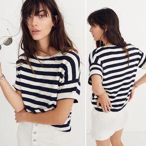 Madewell | Boxy Sweater Tee Kelley Stripe